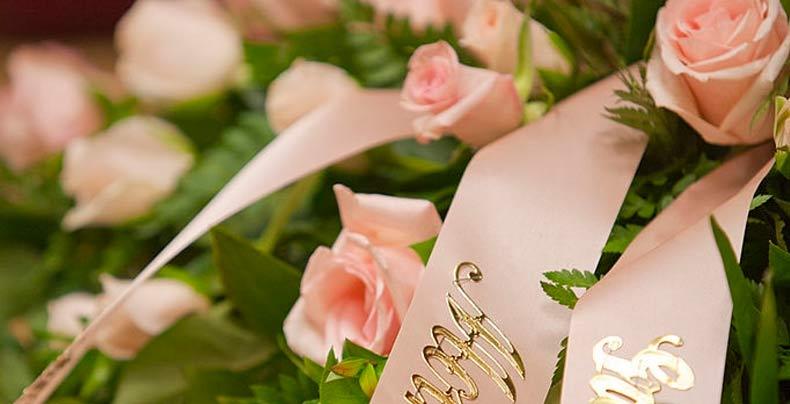 fleurs cercueil